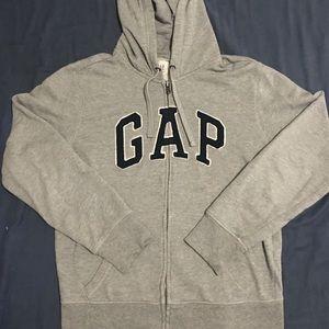 Men's Gap Logo Full Zip Hoodie Sweater